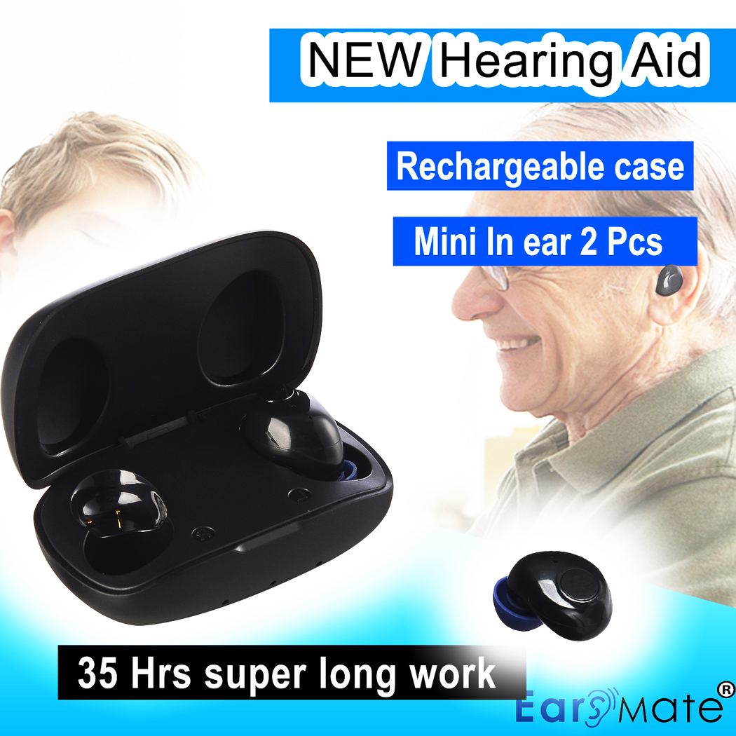 Hearing assist rechargeable hearing aid for both ears